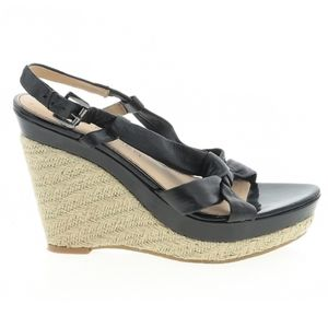 Marc Fisher Juet Patent Leather Espadrilles Wedges
